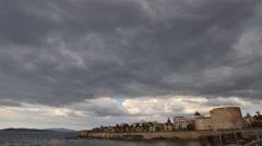 Dark clouds over Alghero Stock Footage