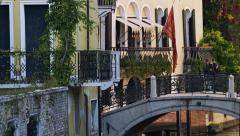 Tourists Walking on Bridge in Venice, Italy 4K Stock Video Footage Stock Footage