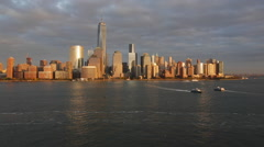 One WTC and Downtown Manhattan, New York, Manhattan, United States of America Stock Footage