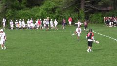 High School Lacrosse Game Part 1 - stock footage