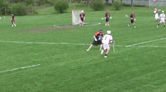 High School Lacrosse Game Part 2 Stock Footage