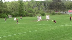 High School Lacrosse Game Part 4 Stock Footage