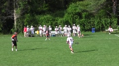 High School Lacrosse Game Part 9 - stock footage