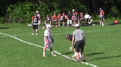 High School Lacrosse Game Part 10 Stock Footage