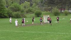 High School Lacrosse Game Part 7 - stock footage