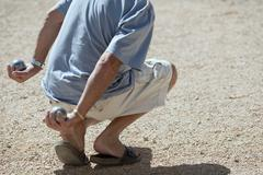 Boules (Petanque) game, French riviera Stock Photos