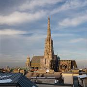 St. Stephan cathedral - Vienna, Austria (panoramic image compose Stock Photos