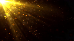 Golden Light Rays Particles Stock Footage