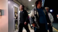 People leaving the movie theater - stock footage