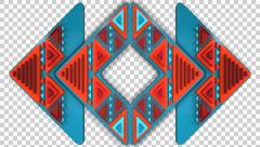 3D ETHNIC TRIBAL ARROWS PATTERN ANIMATION. ALPHA CHANNEL Stock Footage