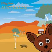 G'Day from Australia greeting card in vector format. - stock illustration
