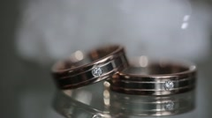 Gold rings Stock Footage