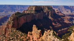 4K Grand Canyon North Rim 14 Tilt Up Cape Royal Stock Footage