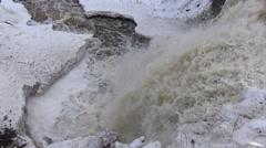 4k Winter Waterfalls 2015,  Zoom Effects Stock Footage