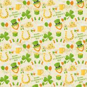 St. Patricks Day pattern - stock illustration
