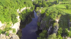 Picturesque canyon. Aerial view Stock Footage