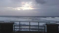 Rough sea by Alghero shore Stock Footage