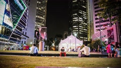4k UHD time lapse video of Raffles Place, Central Busiinss District,  Singapore Stock Footage