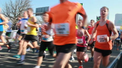 Half Marathon of The Hague Stock Footage