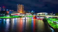 Stock Video Footage of 4k timelapse video of Riverbank Precinct in Adelaide, Australia