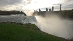 Amazing view of American Falls, Niagara Falls Stock Footage