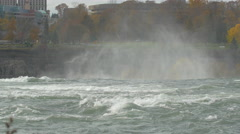 Cloud of mist at the American Falls, Niagara Falls Stock Footage