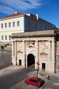 The Land Gate to the Old City of Zadar - stock photo