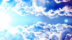Heavenly Passing Clouds Stock Footage