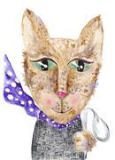 Matrix cat Stock Illustration