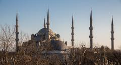 Blue mosque at sunset, Istanbul, Turkey - stock photo