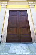 italy  lombardy     in    milano old     closed brick - stock photo