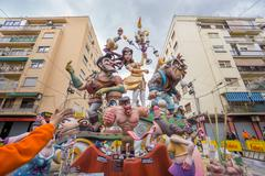 Valencia in Fallas - stock photo