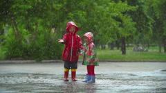 Rain Fun Stock Footage