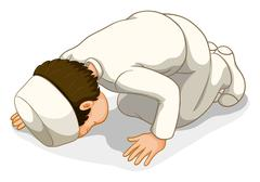 Muslim praying Stock Illustration