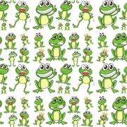 Seamless frog Piirros