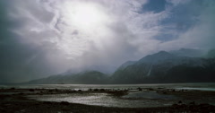 Chilkat God Rays Time Lapse 4K Stock Footage