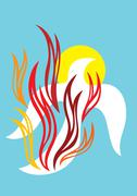 Fire of Holy spirit - stock illustration