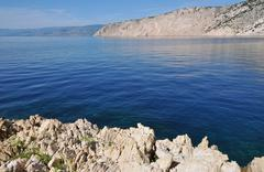 Adriatic sea, rocky coast Stock Photos