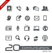 Communications Icon Set -- Basics Stock Illustration