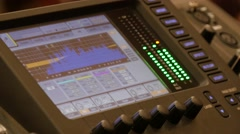 Video Interface Of Audio Digital Mixing Console Stock Footage