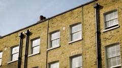 Traditional London period building, establishing shot, close Stock Footage