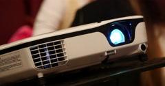 Digital Film Projector Lens 4k - stock footage