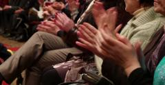 People Hands In Hall Applause 4k Stock Footage