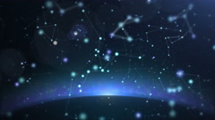 particle010 constellation background - stock footage
