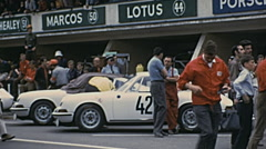 Le Mans 1972: cars on the starting grid Stock Footage