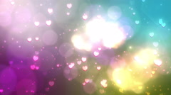 Particle021 bokeh heart background Stock Footage