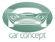 Luxury car circle concept Piirros