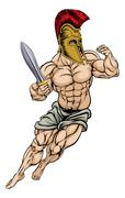 Stock Illustration of Roman Gladiator Warrior