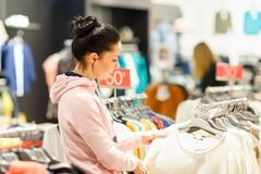 Woman shopping in market - stock photo