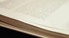 Slow Flipping Book Pages - stock footage